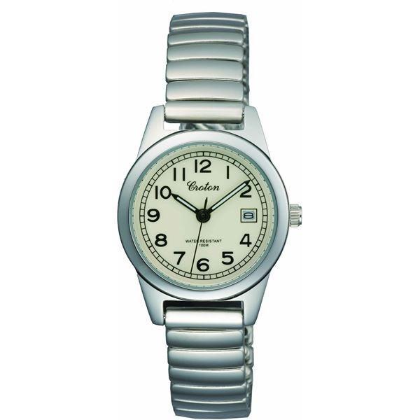 CROTON(クロトン) 腕時計 3針 デイト 10気圧防水 伸縮バンド RT-140L-4