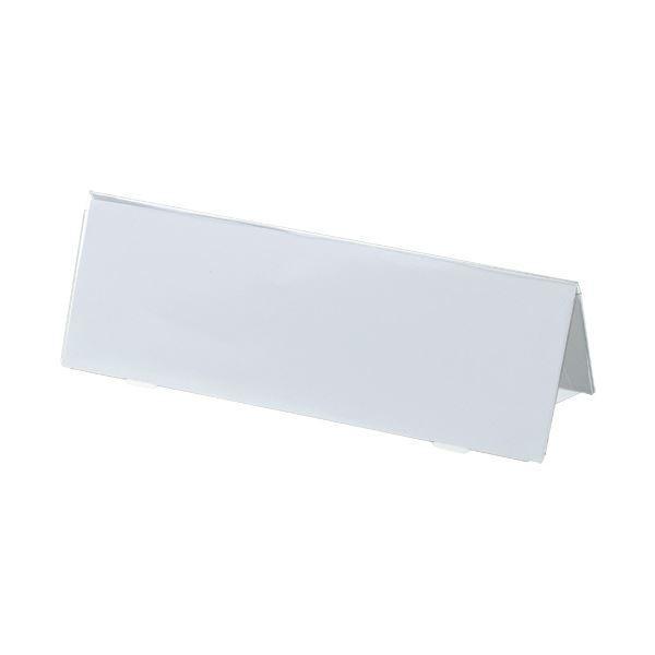 (まとめ) TANOSEE カード立てV型180×61mm 透明 1個 〔×30セット〕