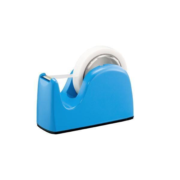 (まとめ)プラス テープカッター TC-301 ライトブルー 5台〔×10セット〕