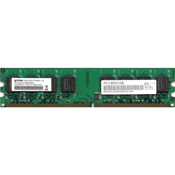 goldkey PC2-6400U (DDR2-800) 2GB 240pin DIMM デスクトップパソコン用メモリ 型番:GKT200UD12808-800A 両面実装 (2Rx8) 動作保証品【中古】