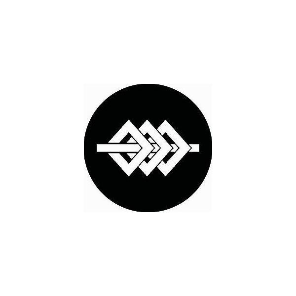 家紋シール 三つ釘抜き閂紋 直径15cm 丸型 白紋 KS15M-1520W