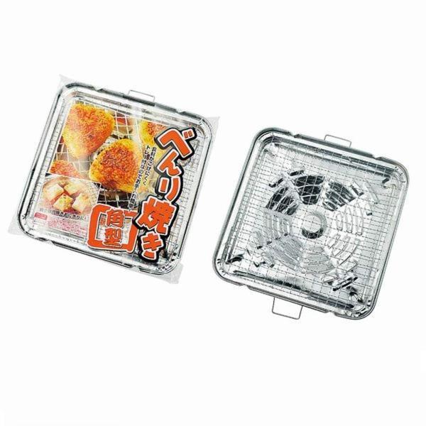 焼き餅/焼きおにぎりの調理に最適 べんり焼き 角型 (トレー付き/ガスコンロ専用)|pc-zakka|02