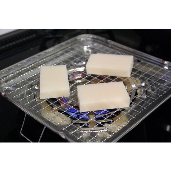 焼き餅/焼きおにぎりの調理に最適 べんり焼き 角型 (トレー付き/ガスコンロ専用)|pc-zakka|03