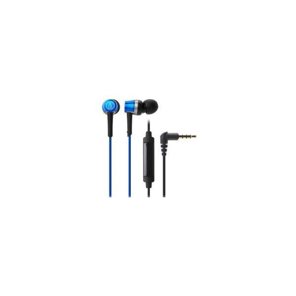 オーディオテクニカ スマートフォン専用ヘッドホン ATH-CKR30iS BL ブルーの画像