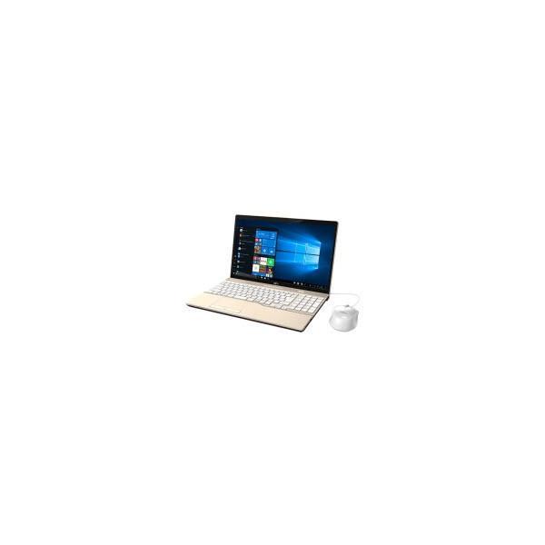 FUJITSU FMVA45D1G ノートパソコン LIFEBOOK AH45/D1 シャンパンゴールド [15.6型 /intel Core i3 /HDD:1TB /メモリ:4GB /2019年2月モデル]の画像