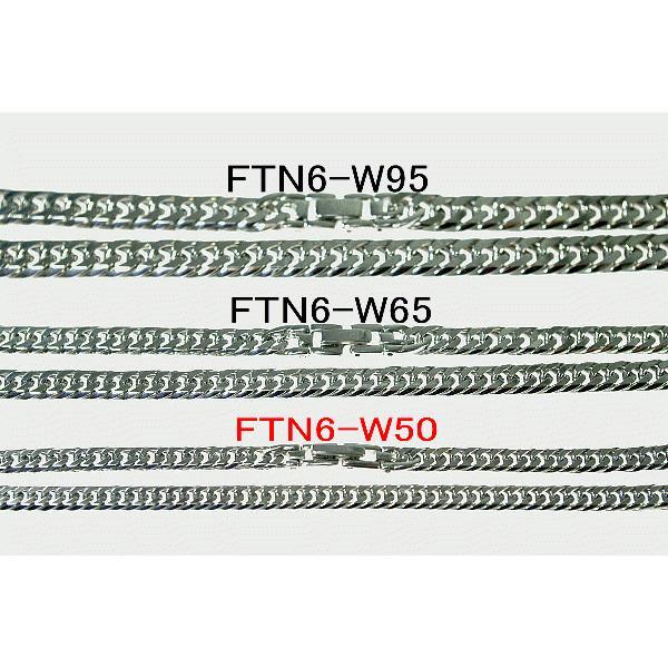 チタンネックレス【FTN6-W50】チタン100%鏡面喜平ダブル六面ネックレス[幅5.0mmX2.0mm]|pcclub|05