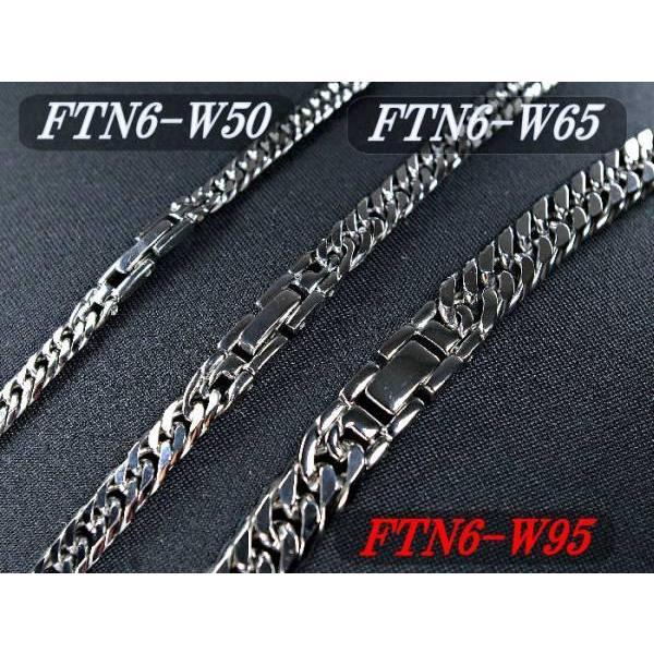チタンネックレス【FTN6-W95】チタン100%鏡面喜平ダブル六面ネックレス[幅9.5mmX3.5mm]|pcclub|03