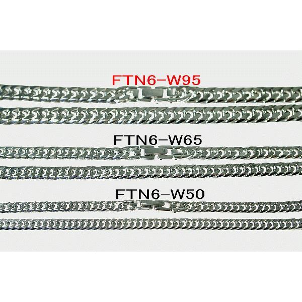 チタンネックレス【FTN6-W95】チタン100%鏡面喜平ダブル六面ネックレス[幅9.5mmX3.5mm]|pcclub|05