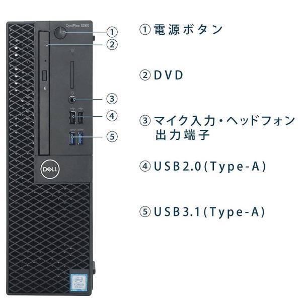中古パソコン デスクトップパソコン Core i7 HDMI 23型フルHD液晶 爆速メモリ16GB 新品HDD2TB Office DELL optiplex 3010SF 正規 Windows10 64bit 1222s pchands 02