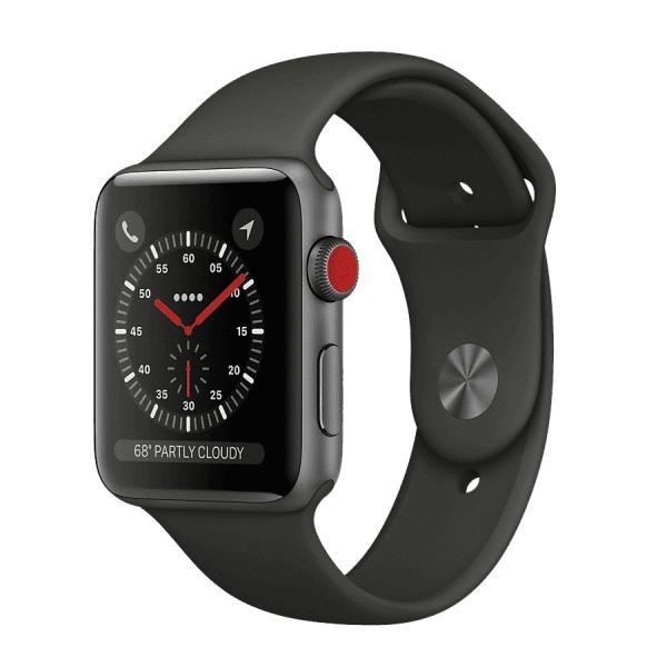 中古 apple watch アップルウォッチ本体 Apple Watch Series 3 GPS + Cellularモデル 42mm アルミニウム [スペースグレイ] A1891 Apple