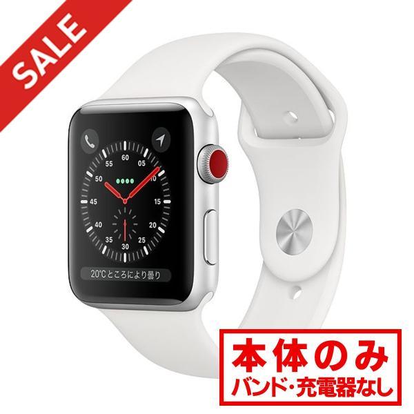 中古 apple watch アップルウォッチ 本体 Apple Watch Series 3 GPS + Cellularモデル 42mm アルミニウム [シルバー] MQKM2J/A Apple Bランク