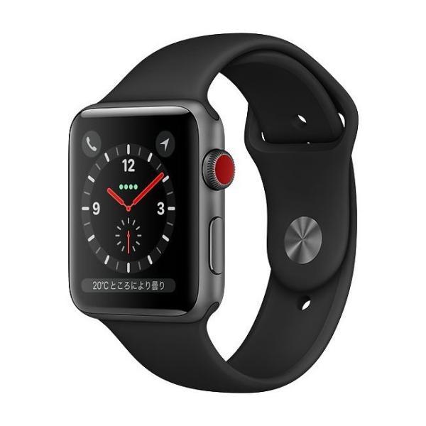 中古 apple watch アップルウォッチ 本体 Apple Watch Series 3 GPS + Cellularモデル 38mm アルミニウム [スペースグレイ] MR2Y2J/A