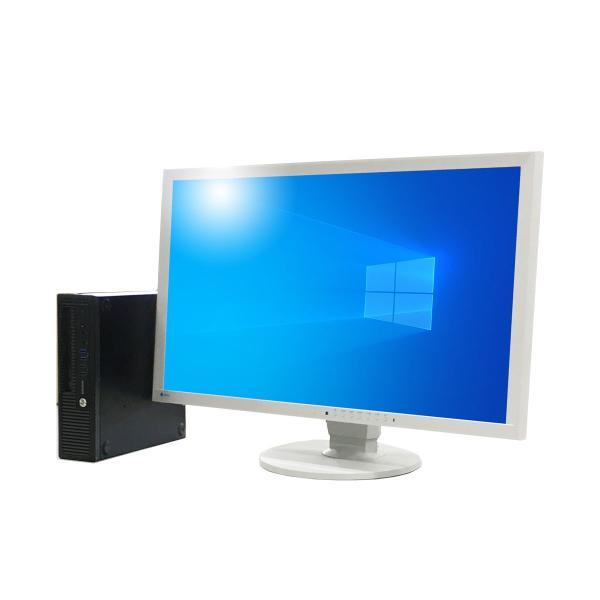 [モニター付セット]HP EliteDesk 800 G1 USDT [Windows10 Pro 64bit Intel Core i5-4590S 3.0GHz メモリ4GB SSD128GB] 中古デスクトップパソコン