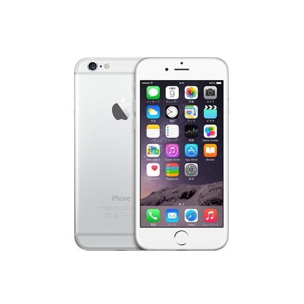 Apple iPhone 6 アイフォン docomo 16GB シルバー MG482J/A アップル 中古スマートフォン 中古スマホ [Cランク]
