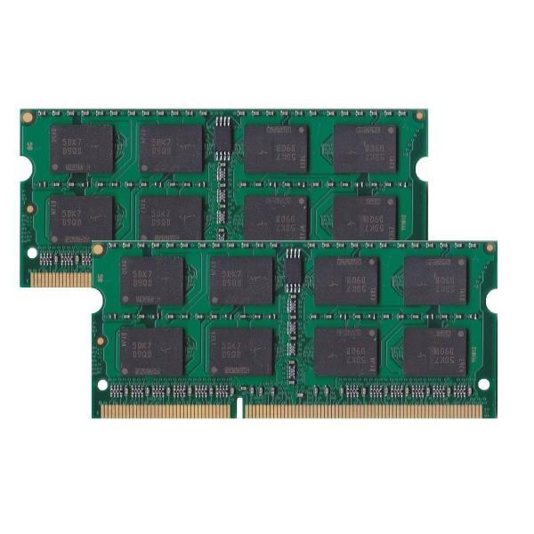 Buffalo D3N1333-2GX2互換部品 PC3-10600(DDR3-1333)対応 DDR3 SDRAM S.O.DIMM 2GB×2枚セット