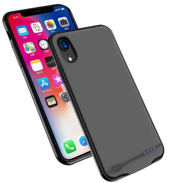 iPhone XR 対応 バッテリーケース 5000mAh〜8500mAh 大容量 バッテリー内蔵ケース 薄型 軽量 急速充電 ケース型バッテリー iPhone xr 対応 充電ケース|pclife