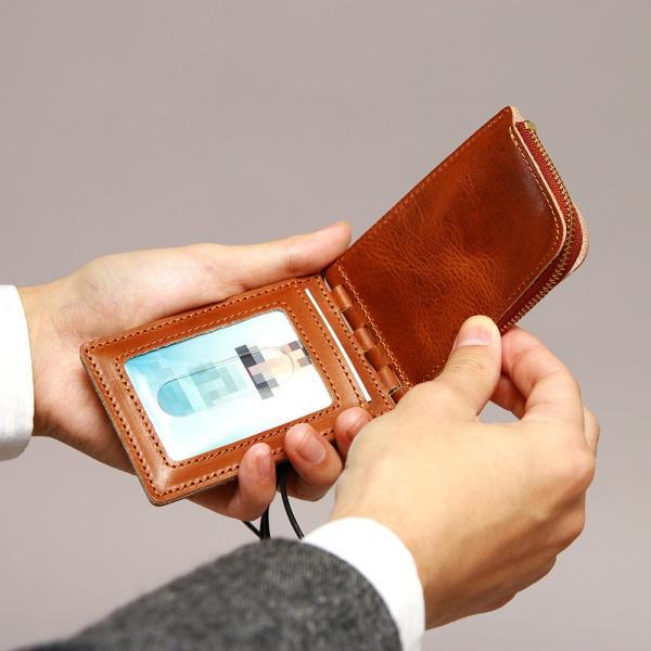 【ネコポス】ネックポーチ 小銭入れ 本革 レザー IDケース 財布 二つ折り パスケース 首掛け AGILITY affa アジリティアッファ フィユテ[M便 3/3]|pdd|12