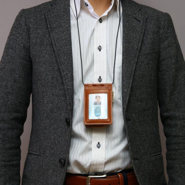 【ネコポス】ネックポーチ 小銭入れ 本革 レザー IDケース 財布 二つ折り パスケース 首掛け AGILITY affa アジリティアッファ フィユテ[M便 3/3]|pdd|13