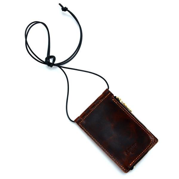【ネコポス】ネックポーチ 小銭入れ 本革 レザー IDケース 財布 二つ折り パスケース 首掛け AGILITY affa アジリティアッファ フィユテ[M便 3/3]|pdd|14
