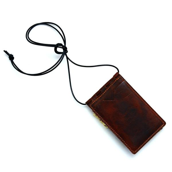 【ネコポス】ネックポーチ 小銭入れ 本革 レザー IDケース 財布 二つ折り パスケース 首掛け AGILITY affa アジリティアッファ フィユテ[M便 3/3]|pdd|15