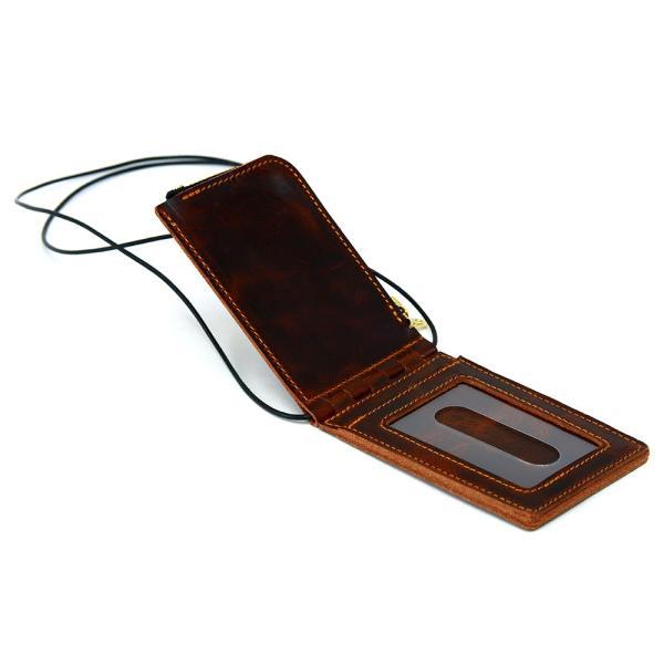 【ネコポス】ネックポーチ 小銭入れ 本革 レザー IDケース 財布 二つ折り パスケース 首掛け AGILITY affa アジリティアッファ フィユテ[M便 3/3]|pdd|16