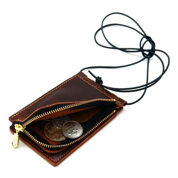 【ネコポス】ネックポーチ 小銭入れ 本革 レザー IDケース 財布 二つ折り パスケース 首掛け AGILITY affa アジリティアッファ フィユテ[M便 3/3]|pdd|18