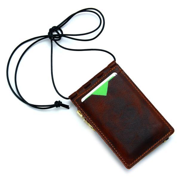 【ネコポス】ネックポーチ 小銭入れ 本革 レザー IDケース 財布 二つ折り パスケース 首掛け AGILITY affa アジリティアッファ フィユテ[M便 3/3]|pdd|19