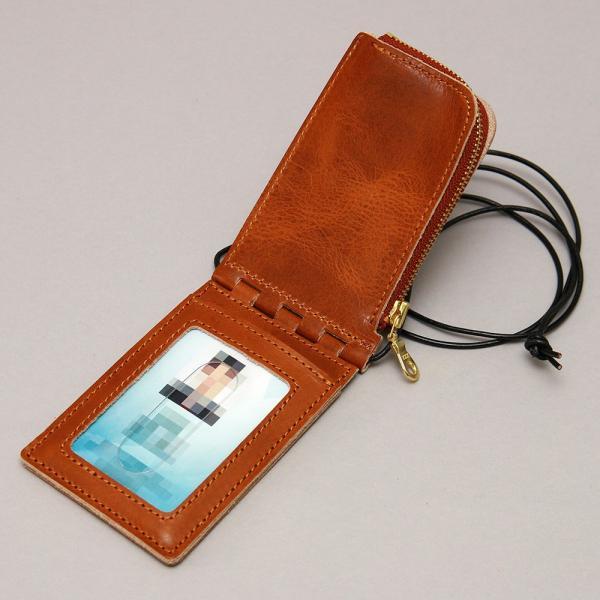 【ネコポス】ネックポーチ 小銭入れ 本革 レザー IDケース 財布 二つ折り パスケース 首掛け AGILITY affa アジリティアッファ フィユテ[M便 3/3]|pdd|08