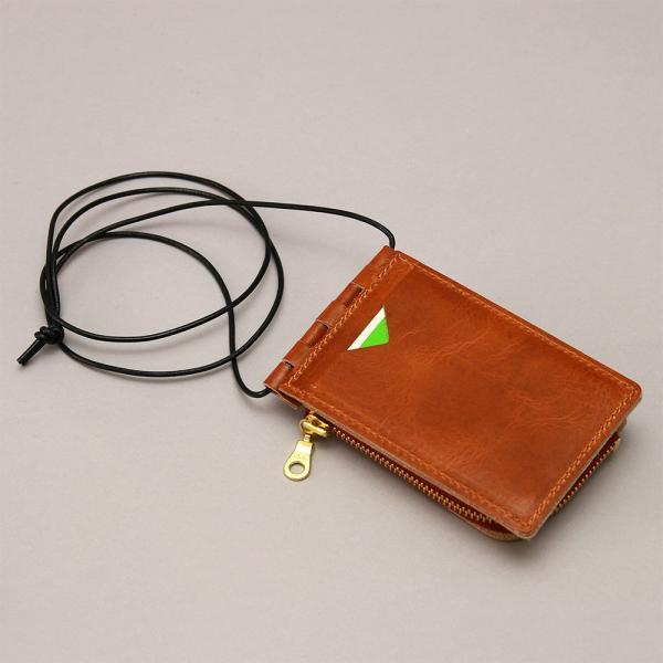 【ネコポス】ネックポーチ 小銭入れ 本革 レザー IDケース 財布 二つ折り パスケース 首掛け AGILITY affa アジリティアッファ フィユテ[M便 3/3]|pdd|09