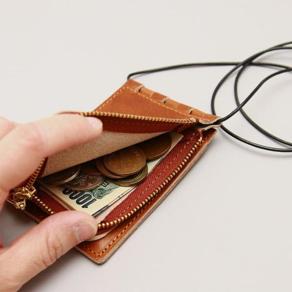 【ネコポス】ネックポーチ 小銭入れ 本革 レザー IDケース 財布 二つ折り パスケース 首掛け AGILITY affa アジリティアッファ フィユテ[M便 3/3]|pdd|10
