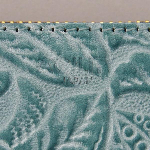 長財布 花柄 型押し 牛革 日本製 おしゃれ かわいい レディース ロングウォレット フラワー AGILITY affa アジリティ アッファ グロット pdd 06