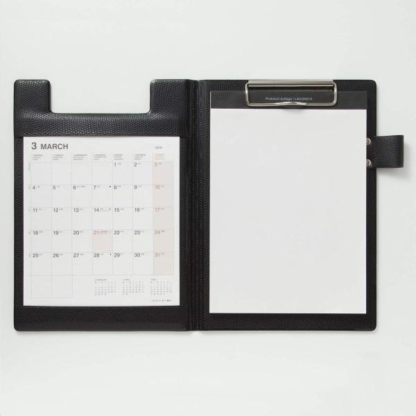 ラコニック 手帳 2019年 A5 マンスリー PVCカバー 黒 LUM08-220BK (2019年3月始まり)|peace-maker|02