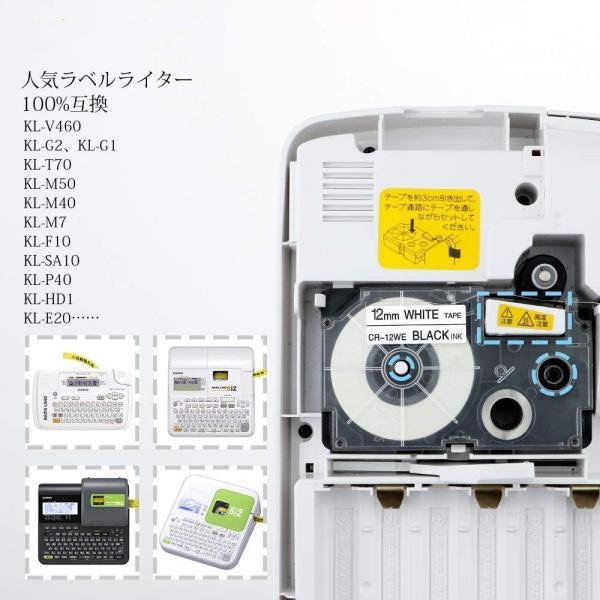 カシオ用 ネームランド 互換 テープカートリッジ 9mm 自由選択 1個 ラベルライター テープ ラベル シール 保証付き CASIO KL-TF7 KL-T70 KL-P40 peacefulbear 02