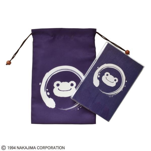 かえるのピクルス 御朱印帳+巾着 円 ST-TPF0001