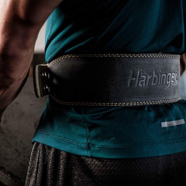Harbinger ハービンジャー 本革 レザー トレーニングベルト 背中幅10.16cm 4
