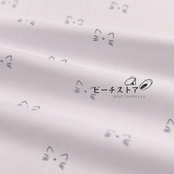 生地布シフォン猫顔北欧柄ドレス生地薄手柔らかい透け感あるこれからの季節に涼しげな生地手作り生地