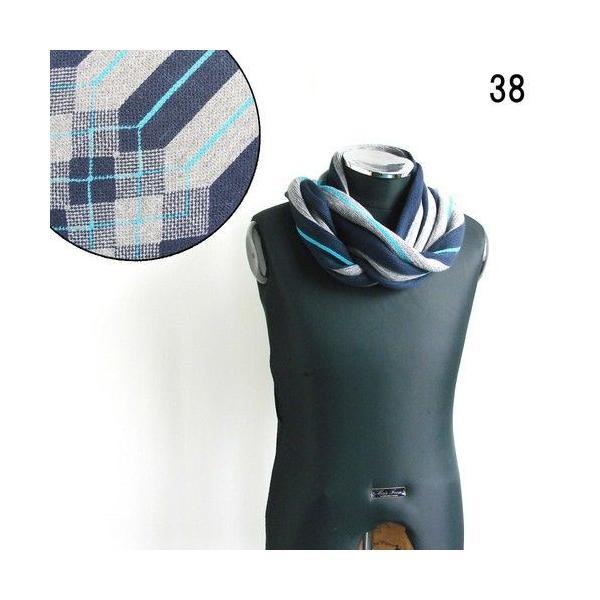 メンズ レディース マフラー アーガイルチェック ストライプ アクリルマフラー フリンジデザイン 防寒 長い ストール (全6色)|peachy|02