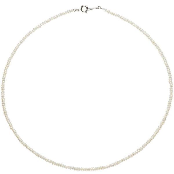 パールネックレス高級淡水真珠ケシパールネックレス約2.0-3.0mmシルバー本真珠結婚式冠婚葬祭母の日ホワイトデーお返し