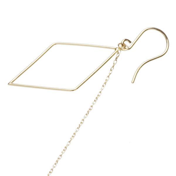 揺れる 淡水 真珠 パール チェーン ピアス フック 約4.0-4.5mm K10YG  記念日 結婚式 送料無料 6月誕生石真珠送料無料 あすつく対応