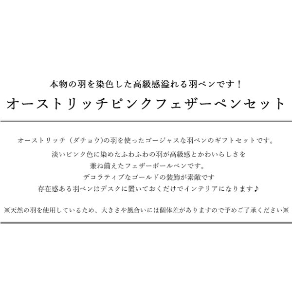 薔薇雑貨 ピンクフェザーボールペン   姫系雑貨 プレゼント ラッピング 明日つく|pease|02
