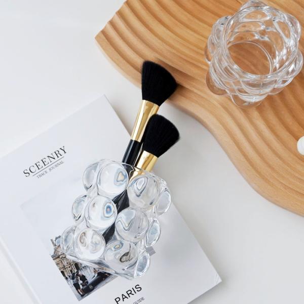 【倉庫出荷】バブル メイクブラシスタンド ペンスタンド 花瓶 フラワーベース おしゃれ かわいい ガラス 韓国インテリア