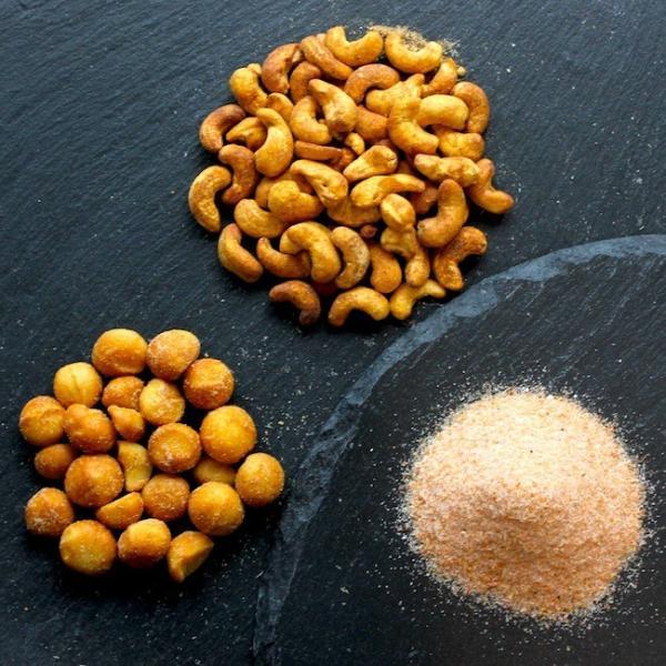 燻製カシューナッツ,燻製マカダミアナッツ,燻製えび岩塩 セット<ギフト黒箱>|peatmoresmoke