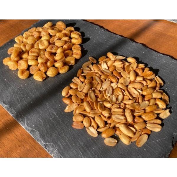 ピート燻製ピーナッツ&燻製ジャイアントコーン 2袋セット|peatmoresmoke