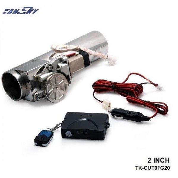 50mm マフラー可変電動バルブ リモコン付き 47mm-53mm可能