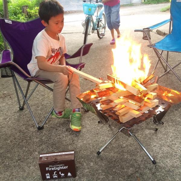 薪 簡単!焚き火セット (ナラ薪・杉焚き付け・着火材・マッチ)楽々焚き火|pelletman|04