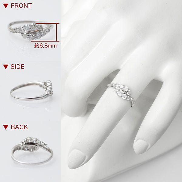 スイート メモリー 天然 テン ダイヤモンド リング 指輪 プラチナ Pt900/D:0.50ct エレガント スイートテン|pendant|03