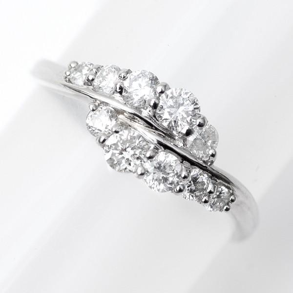 スイート メモリー 天然 テン ダイヤモンド リング 指輪 プラチナ Pt900/D:0.50ct エレガント スイートテン|pendant|06