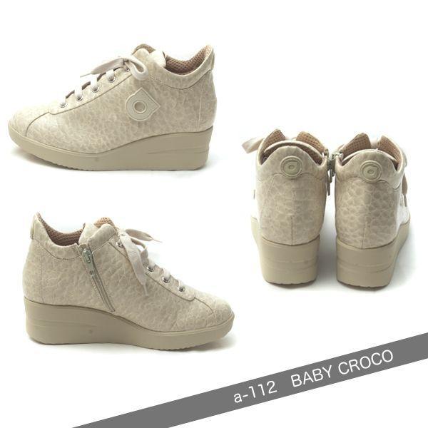 ルコライン 靴 アージレ agile RUCO LINE 靴 Baby Croco アイボリー色 agile-112 スニーカー|pendant|02