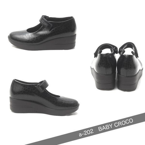 ルコライン アージレ agile RUCO LINE 靴 BABY CROCO ストラップ/黒 agile-202|pendant|02