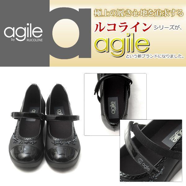 アージレ バイ ルコライン agile by RUCO LINE 靴 ICE ワンストラップシューズ ブラック/ビーズ付 agile-203|pendant|03